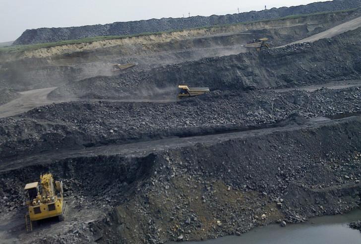 Добыча угля в России увеличилась
