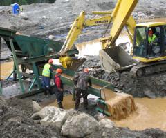 Работа на золотом прииске  тяжелый но высокооплачиваемый труд