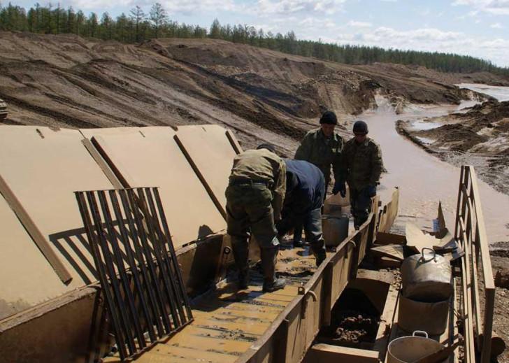 Добыча золота, работа в артели старателей Золотая долина