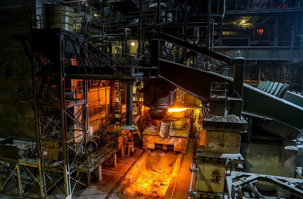 Расположение сталелитейных заводов