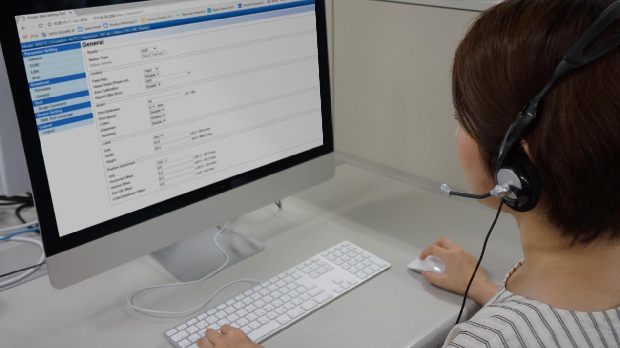 Универсальный принтер SATO WS2 для печати этикеток ярлыков и браслетов